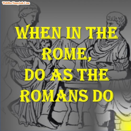 Do as Romans do